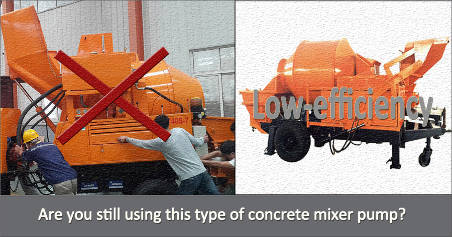 low efficiency concrete mixing pump
