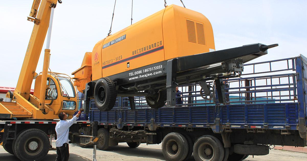 trailer mounted line concrete pumps